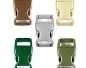 """Buckles 5/8"""" (16mm), Choice of 5 Colors.  Contoured, Non-Adjusting, Side-Release. Perfect for Paracord Bracelets."""