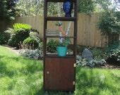 EL CAPITAN Custom Handmade Reclaimed Redwood Bookcase Plant Stand Storage Unit