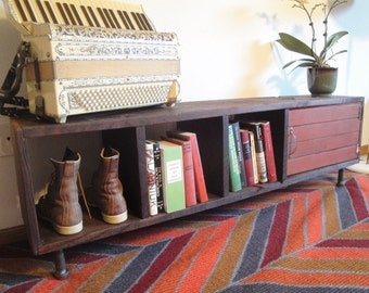 whitney reclaimed wood cabinet book case tv stand