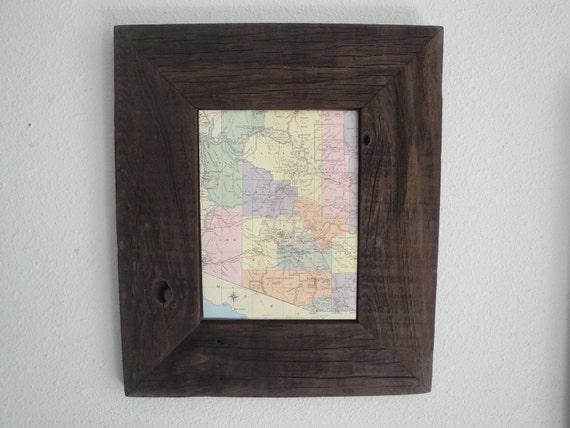 Handmade Custom Reclaimed Redwood Fence Picket Picture Frame 8x10