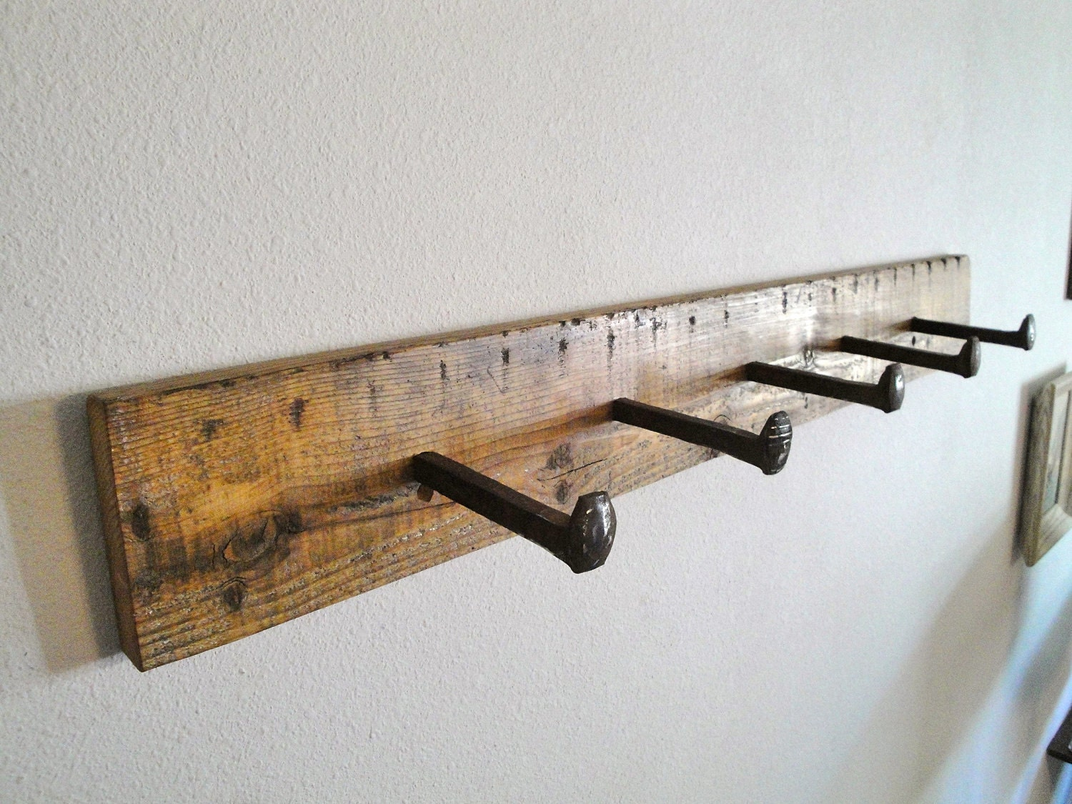 Reserved For Jacktractor Railway Handmade Reclaimed Wood Spike