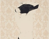 Gilding the Lily, Hand Pulled Lithograph 30x22