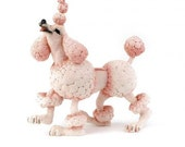 Treasury Item Shabby Chic Pink Poodle Candy French Figurine Christmas Breed Apart Marie Antoinette Doggie