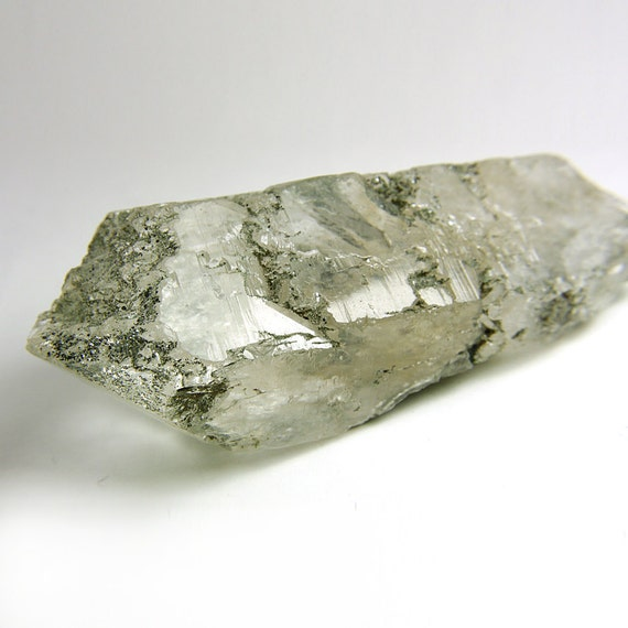 Chlorite Quartz Crystal from Himalayas, ice clear with inner landscapes