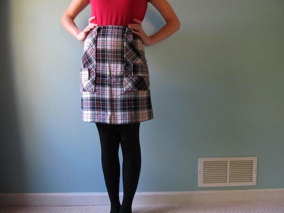 plaid mini skirt - small