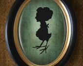 Mrs Harpy silhouette 5x7 print