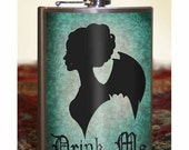 Flask - 8oz. - Drink Me - Vampire - Stainless Steel