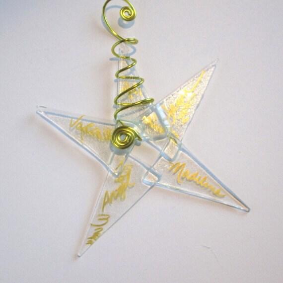 Clear Star  Glass Chritmas Ornament 10