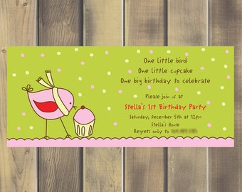 Stella Bird Birthday Invite - Printable PDF