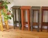 Small Table Wooden Plant Stand Reclaimed Wood