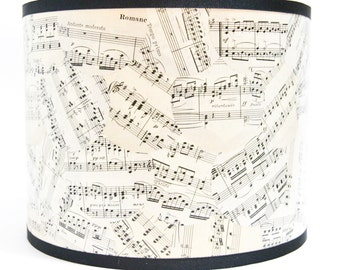 Sheet Music Drum Lamp Shade