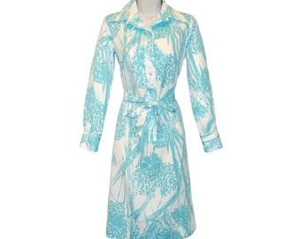 Vintage Lanvin Dress, Shirtdress, 1970s