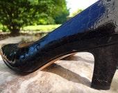 Snake Skin Design  / Black 6b / Designer / Italy / Salvatore Ferragamo Shoes