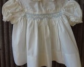 Polly Flinders / 9 mo / Baby Girl Dress / Antique White