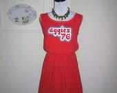 SALE Texas A&M Aggies Game Day T Shirt Tee Dress