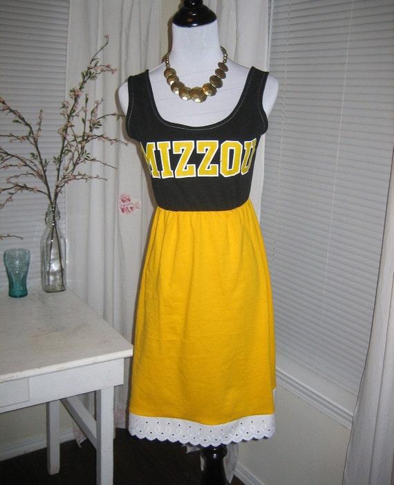 University of Missouri Mizzou Game Day T Shirt Tee Dress