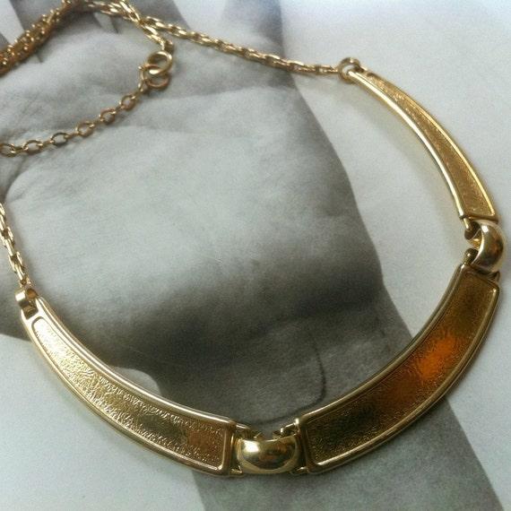Gold Hinged Bib Necklace by Henkel & Grosse