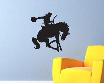 Bronco Ride - Cowboy Riding Horse Wall Decal