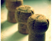 The Green Ones - 5x7 - Original Fine Art Photograph - Champagne - Corks - Celebration - New Year - urbanantique