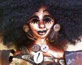 """Birch: A OOAK, original figurative 5""""x7""""x24"""" sculpture"""