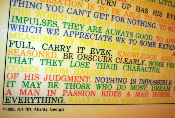 Vintage Rainbow Quotes Wall Hanging A Thousand Words Is Worth