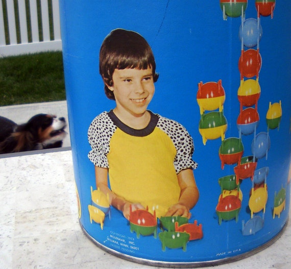 SALE Marked 40% Off Vintage Space Globe Building Blocks 1974 Form-a-tions