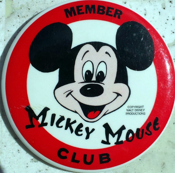 Vintage Mickey Mouse Club Member Button