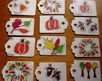 Fall Gift Tags Lot 107 Awesome Gift Tags