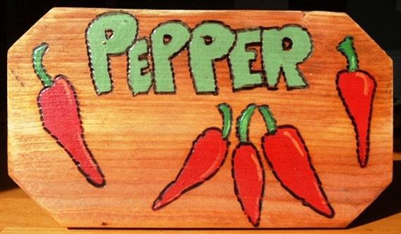 Red Hot Chilly Pepper Garden Marker