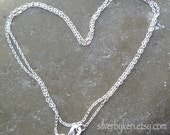 """1.4mm Cable Link Chain - 16"""" or 18"""" - Solid Sterling Silver"""