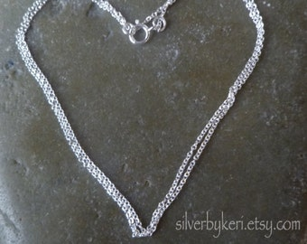 "1mm Cable Chain -  16"" or 18"" - Chain Only - Solid Sterling Silver"