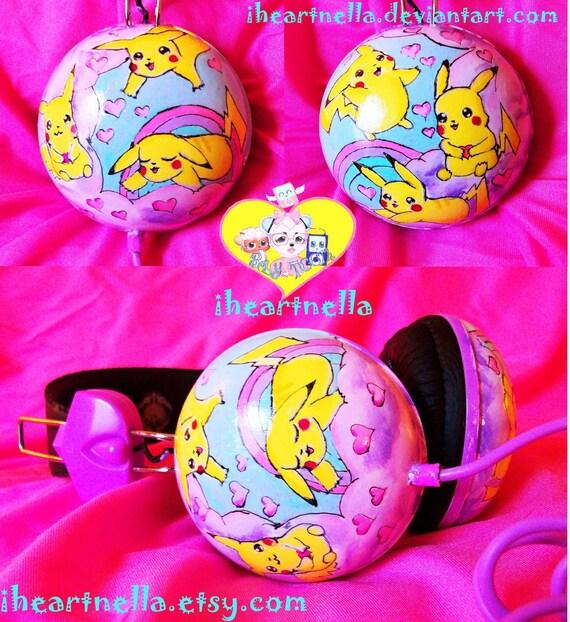 Pikachu cuffie di iheartnella su etsy - Cuffie traduzione ...