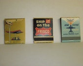 Vintage Matchbooks your choice of 7 for 10 dollars
