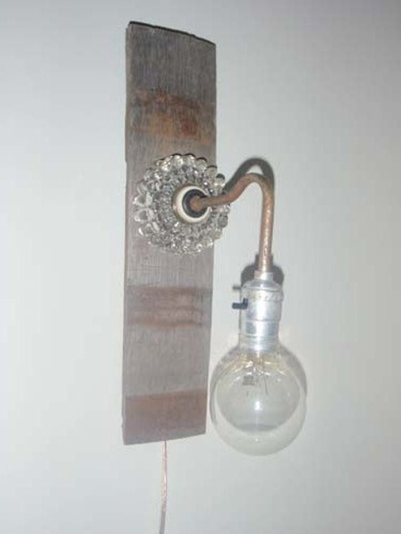 Anthropologie Inspired upcycled vintage wall sconce with all new electrical components including standard plug NO WIRING REQUIRED