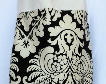 SALE Black & White Damask Large Tote Bag