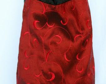 SALE Garnet Swirl Patterned Large Tote Bag