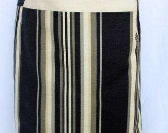 SALE Black & White Striped  Large Tote Bag