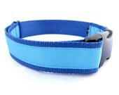 LARGE Dog Collar in Blues