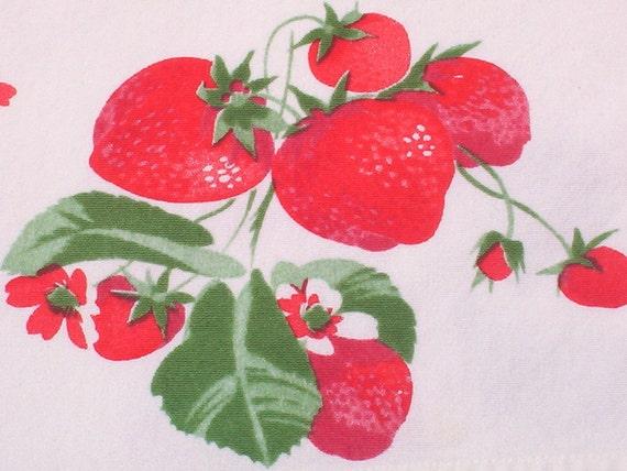 Lucious Ripe Strawberries Tablecloth -- Treasury Item