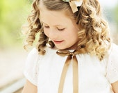 Eyelet Rosette Headband with Bow