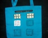 TARDIS canvas tote bag