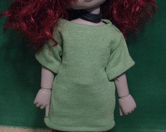 YoSD BJD Plain Lime Green Shirt