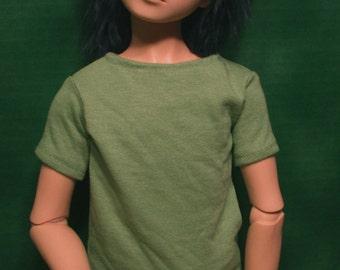 60cm BJD Plain Lime Green Shirt SD/SD13