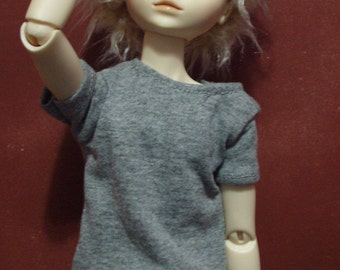 Simple Grey 45cm BJD t-shirt