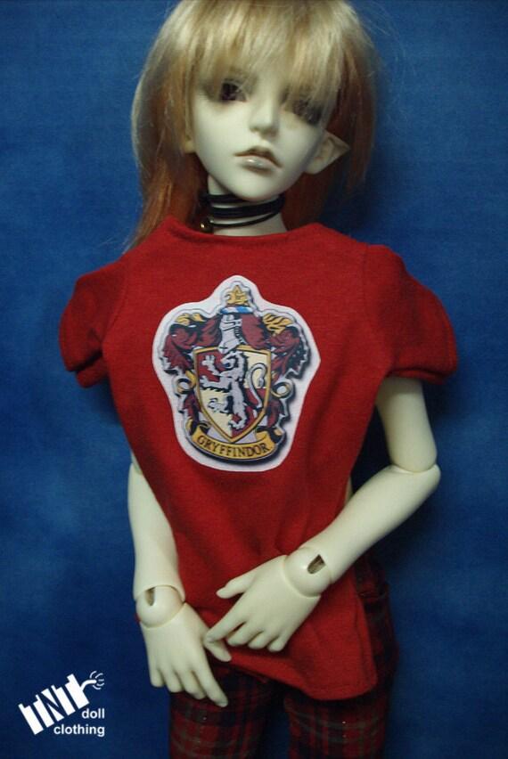 Red Gryffindor 70cm BJD T-shirt