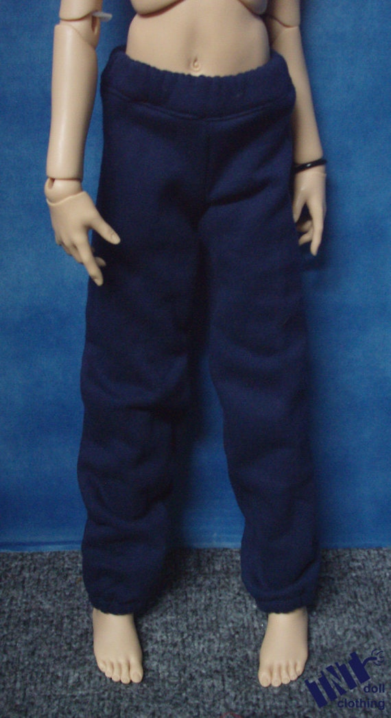 Navy Blue 60cm BJD Baggy Sweat Pants