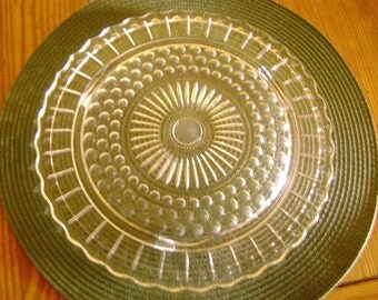 Bubble Pattern Cake Plate by Anchor Hocking
