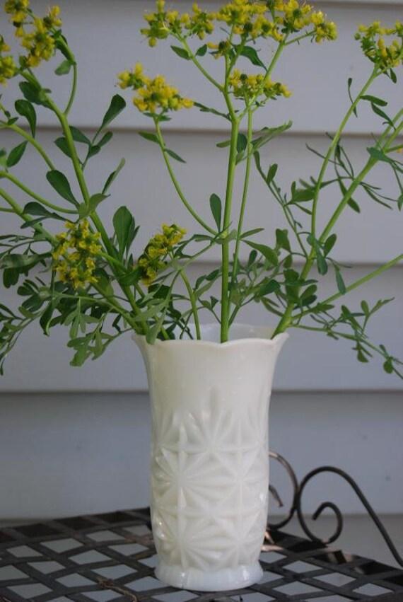 Hazel Atlas Milk Glass Vase