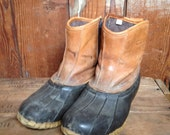 Vintage Cabelas Duck Boots, Pull On, Mens 10