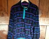 Vintage LL Bean Indian Blanket Fleece Jacket, Mens M